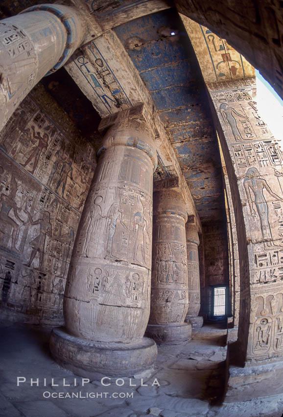 Temple of Medinet Habu. Luxor, Egypt, natural history stock photograph, photo id 02589
