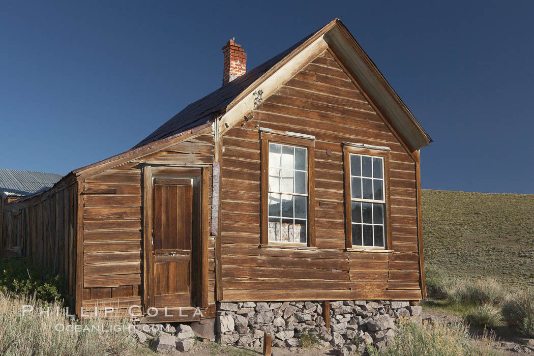 Metzger House, Fuller Street and Union Street. Bodie State Historical Park, California, USA, natural history stock photograph, photo id 23160