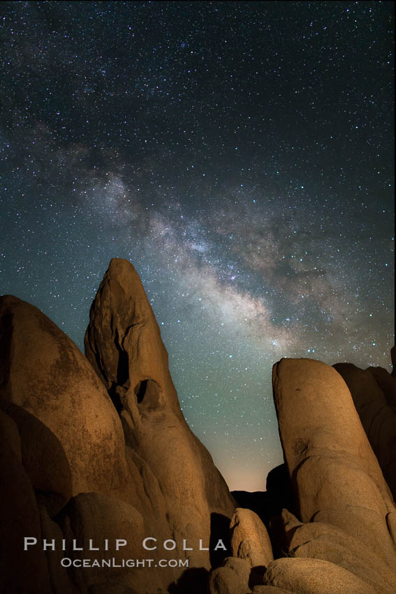 Milky Way over Joshua Tree National Park. California, USA, natural history stock photograph, photo id 28411