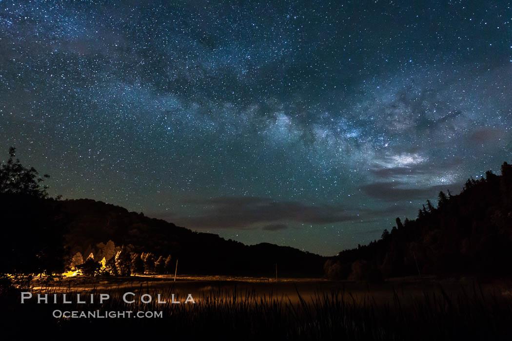 Milky Way over Doane Pond, Mount Palomar. Palomar Mountain, California, USA, natural history stock photograph, photo id 29312