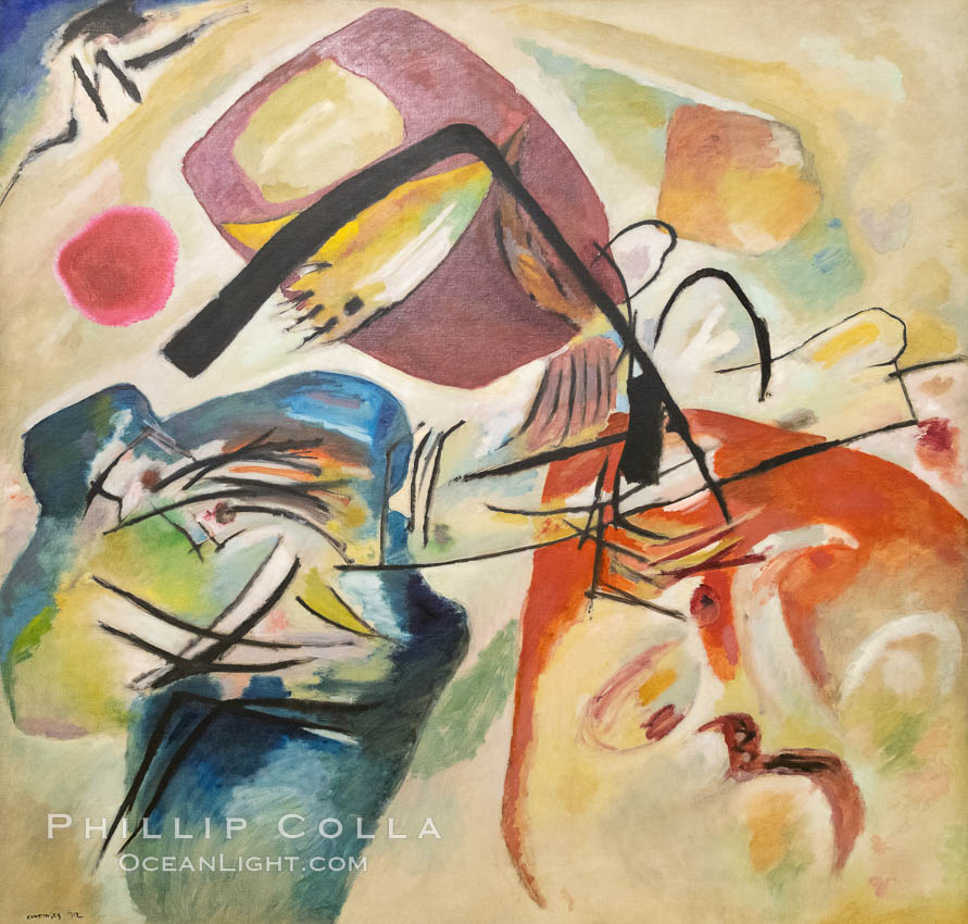 Mit dem schwarzen Bogen, 1912, Vassily Kandinsky, Le Centre Pompidou. Paris. Musee National dArt Moderne, Paris, France, natural history stock photograph, photo id 35683
