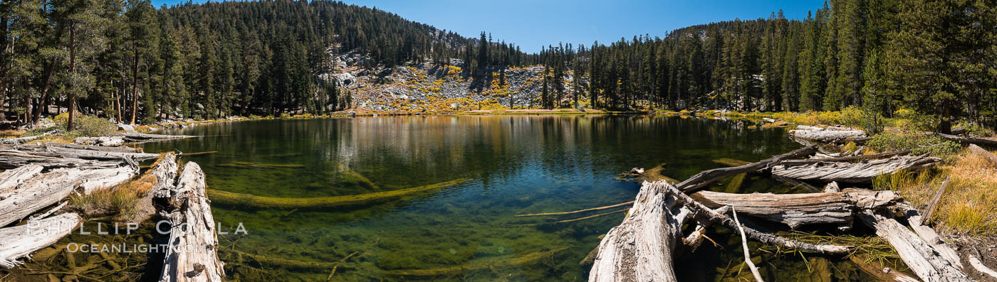 Panorama of Mosquito Lake, Mineral King, Sequoia National Park, California. USA, natural history stock photograph, photo id 32264