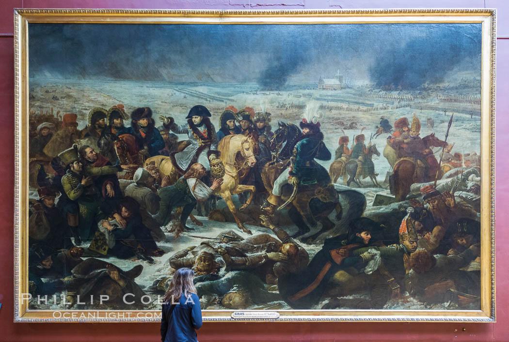 Napoleon sur le champ de bataille d'Eylau, painting by Antoine-Jean Gros, 1807. Musee du Louvre. Musee du Louvre, Paris, France, natural history stock photograph, photo id 28222