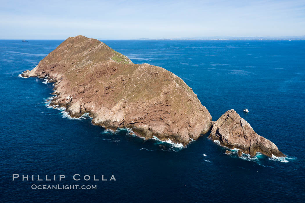 Aerial Photo of North Coronado Island, Baja California, Mexico. Coronado Islands (Islas Coronado), natural history stock photograph, photo id 35896