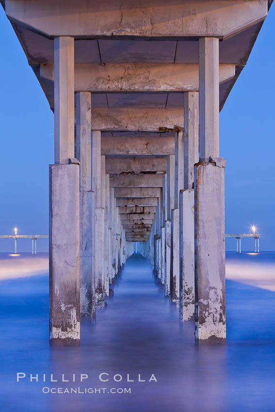 Ocean Beach Pier, also known as the OB Pier or Ocean Beach Municipal Pier, is the longest concrete pier on the West Coast measuring 1971 feet (601 m) long. San Diego, California, USA, natural history stock photograph, photo id 27386