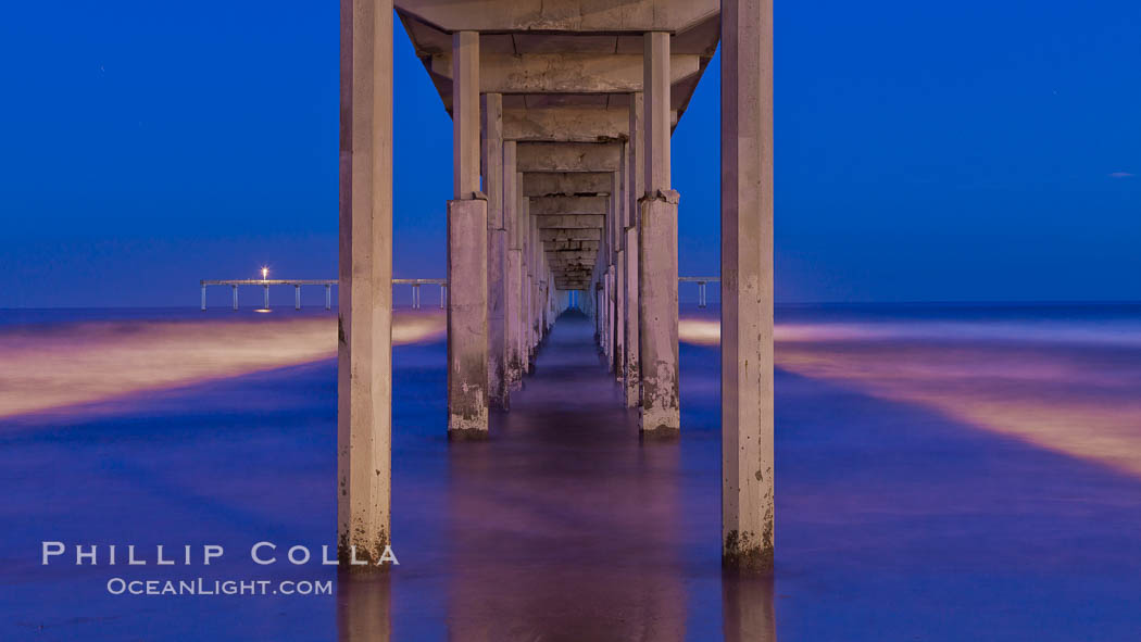 Ocean Beach Pier, also known as the OB Pier or Ocean Beach Municipal Pier, is the longest concrete pier on the West Coast measuring 1971 feet (601 m) long. San Diego, California, USA, natural history stock photograph, photo id 27385