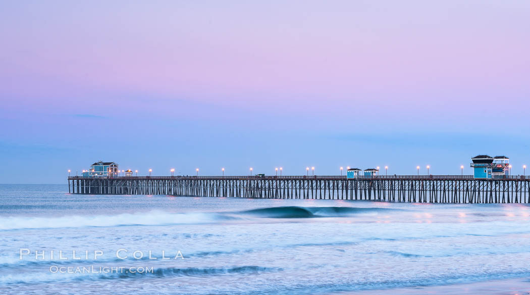 Oceanside Pier at Dawn. California, USA, natural history stock photograph, photo id 28878