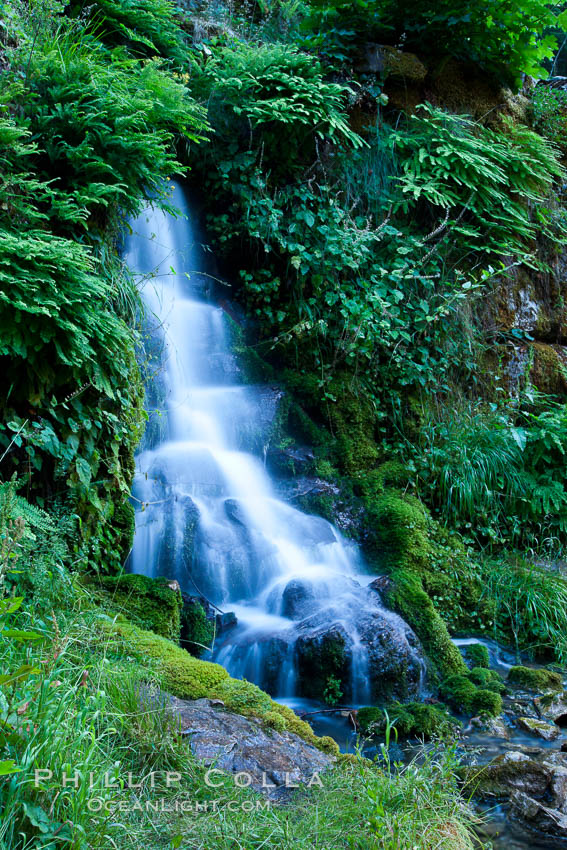 Small waterfall near The Chateau at Oregon Caves National Monument. USA, natural history stock photograph, photo id 25859