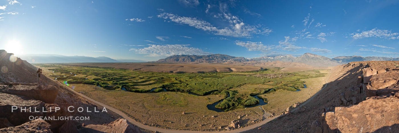 Owens River viewed from the Volcanic Tablelands near Bishop, California. Bishop, California, USA, natural history stock photograph, photo id 26966