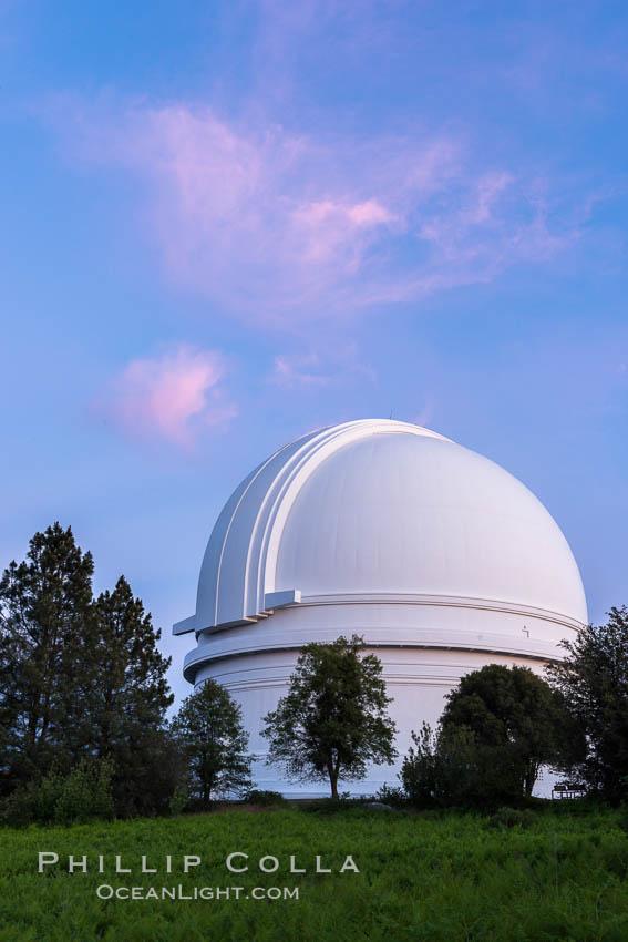 Palomar Observatory at sunset. Palomar Observatory, Palomar Mountain, California, USA, natural history stock photograph, photo id 29330