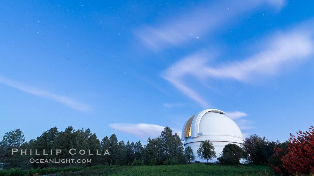 Palomar Observatory at sunset. Palomar Observatory, Palomar Mountain, California, USA, natural history stock photograph, photo id 29331