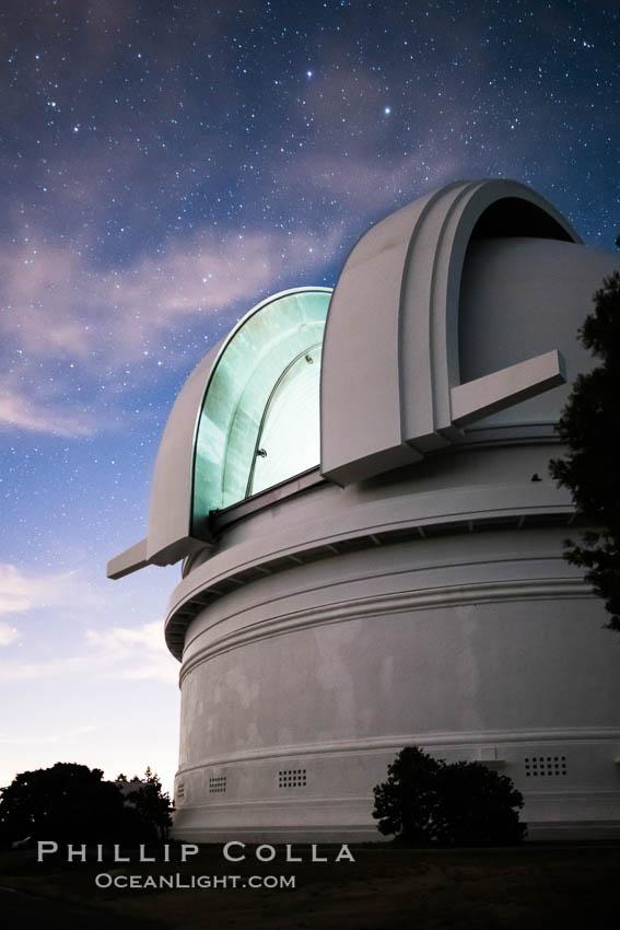 Palomar Observatory at sunset. Palomar Observatory, Palomar Mountain, California, USA, natural history stock photograph, photo id 29335