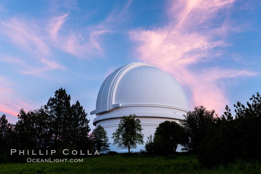Palomar Observatory at sunset. Palomar Observatory, Palomar Mountain, California, USA, natural history stock photograph, photo id 29329