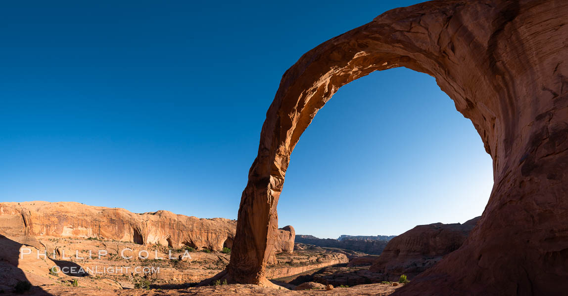 Panorama of Corona Arch, Moab, Utah. USA, natural history stock photograph, photo id 29240