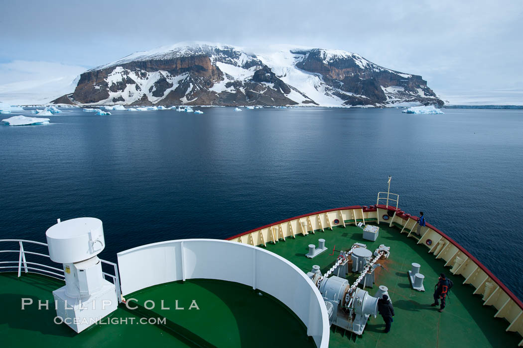M/V Polar Star on its way to Brown Bluff in the Antarctic Sound. Antarctic Peninsula, Antarctica, natural history stock photograph, photo id 24805