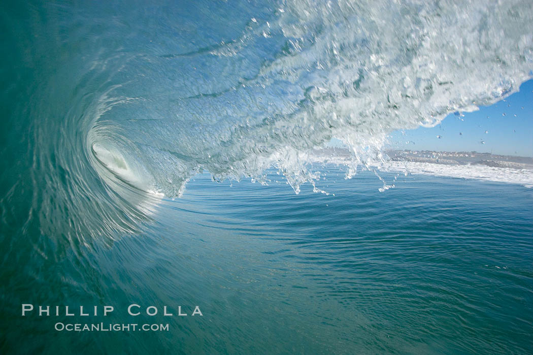 Surf, wave, winter, morning, Ponto, South Carlsbad. California, USA, natural history stock photograph, photo id 14978
