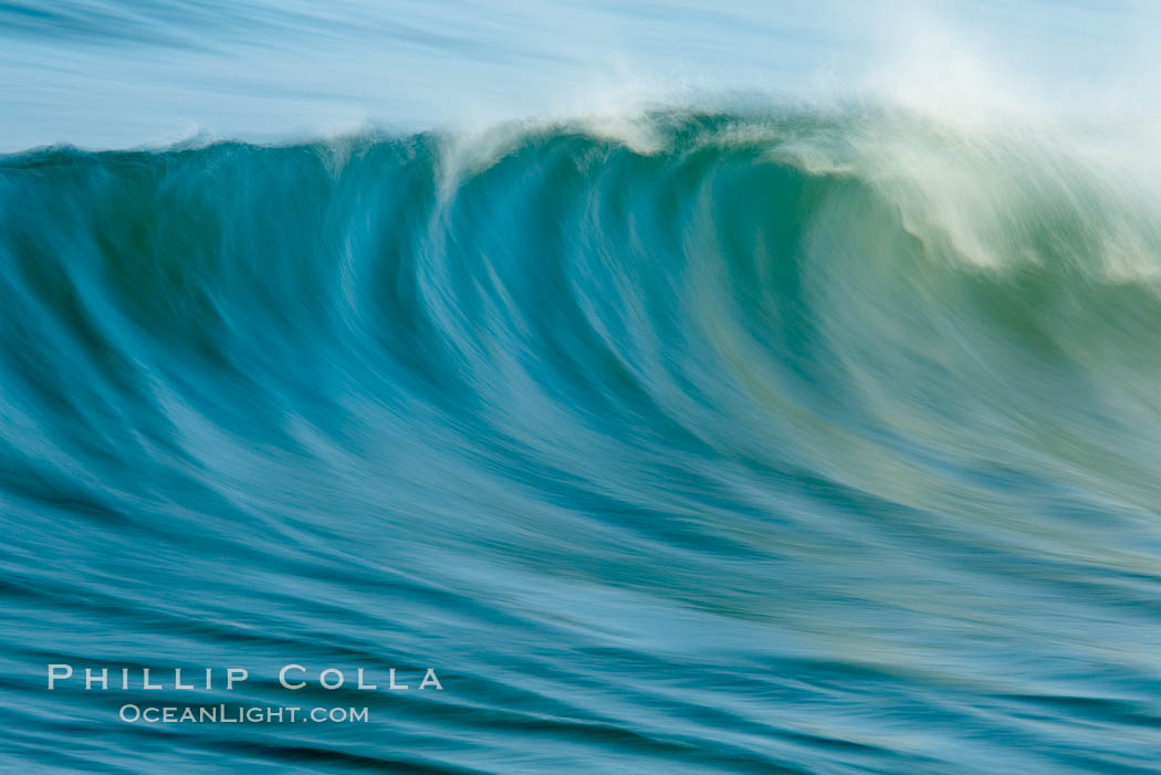 Breaking wave, fast motion and blur. Ponto, South Carlsbad, California. Ponto, Carlsbad, California, USA, natural history stock photograph, photo id 14439