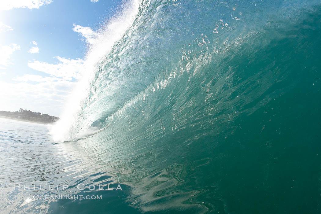 Breaking wave, Ponto, South Carlsbad, California. Ponto, Carlsbad, California, USA, natural history stock photograph, photo id 17407