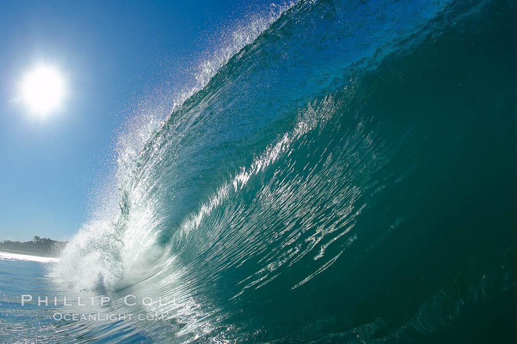 Breaking wave, Ponto, South Carlsbad. Ponto, Carlsbad, California, USA, natural history stock photograph, photo id 17679