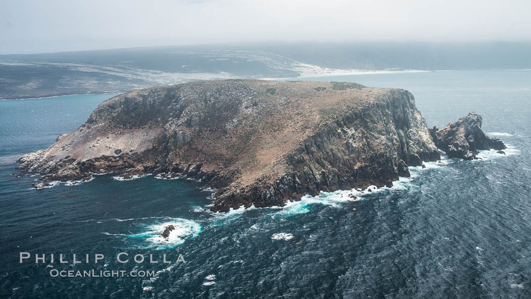 Prince Island, San Miguel Island, aerial photograph. California, USA, natural history stock photograph, photo id 29378