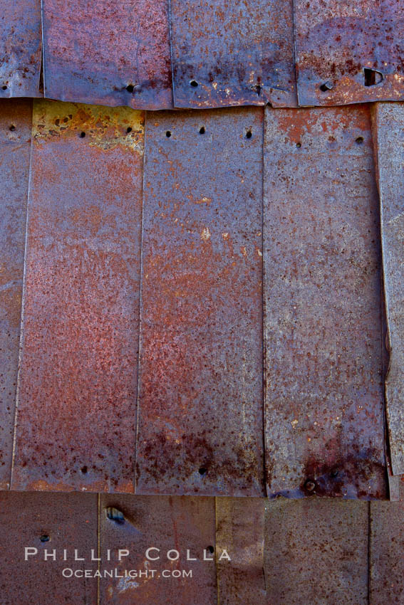 Rusted old metal siding, Kelley Building on Green Street. Bodie State Historical Park, California, USA, natural history stock photograph, photo id 23125