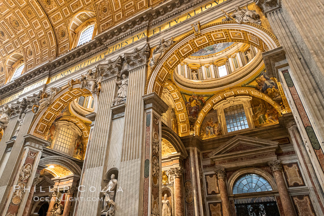 Saint Peter's Basilica interior, Vatican City. Vatican City, Rome, Italy, natural history stock photograph, photo id 35590