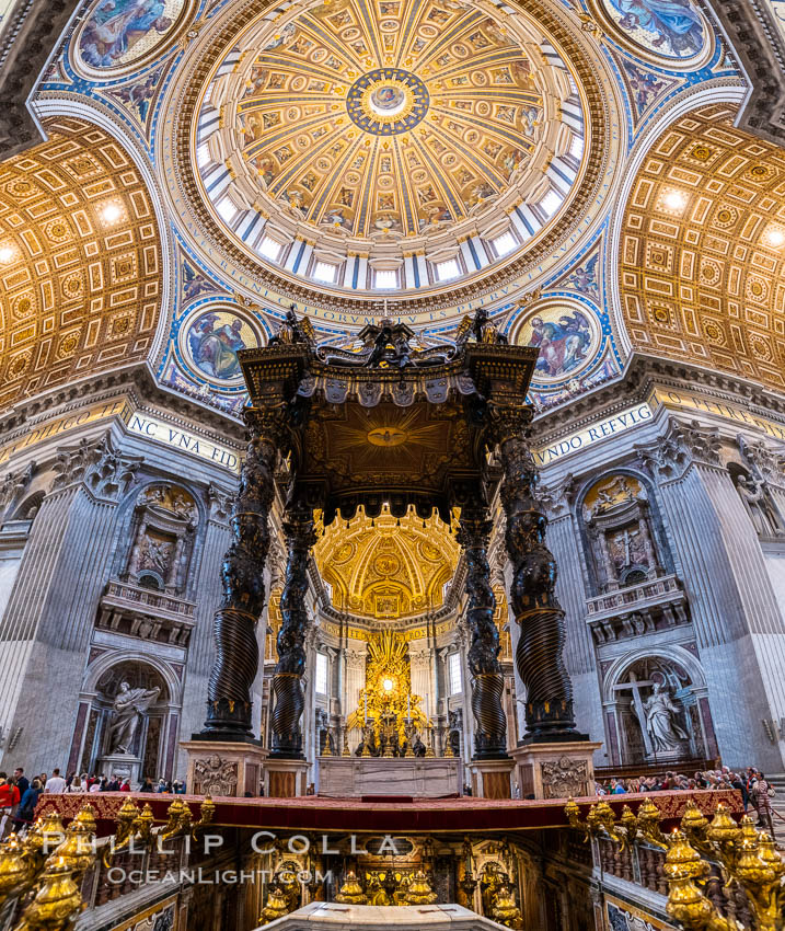 Saint Peter's Basilica interior, Vatican City. Rome, Italy, natural history stock photograph, photo id 35568