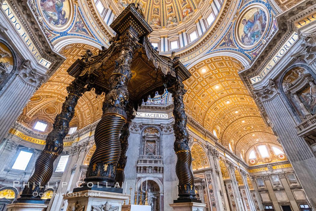 Saint Peter's Basilica interior, Vatican City. Vatican City, Rome, Italy, natural history stock photograph, photo id 35567
