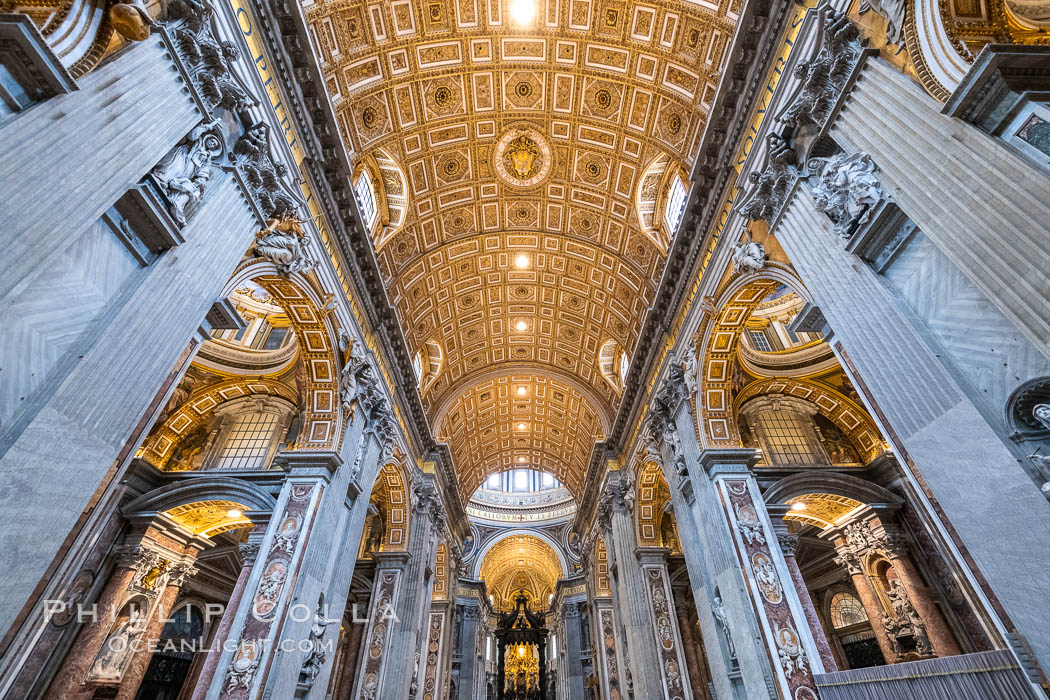 Saint Peter's Basilica interior, Vatican City. Vatican City, Rome, Italy, natural history stock photograph, photo id 35569