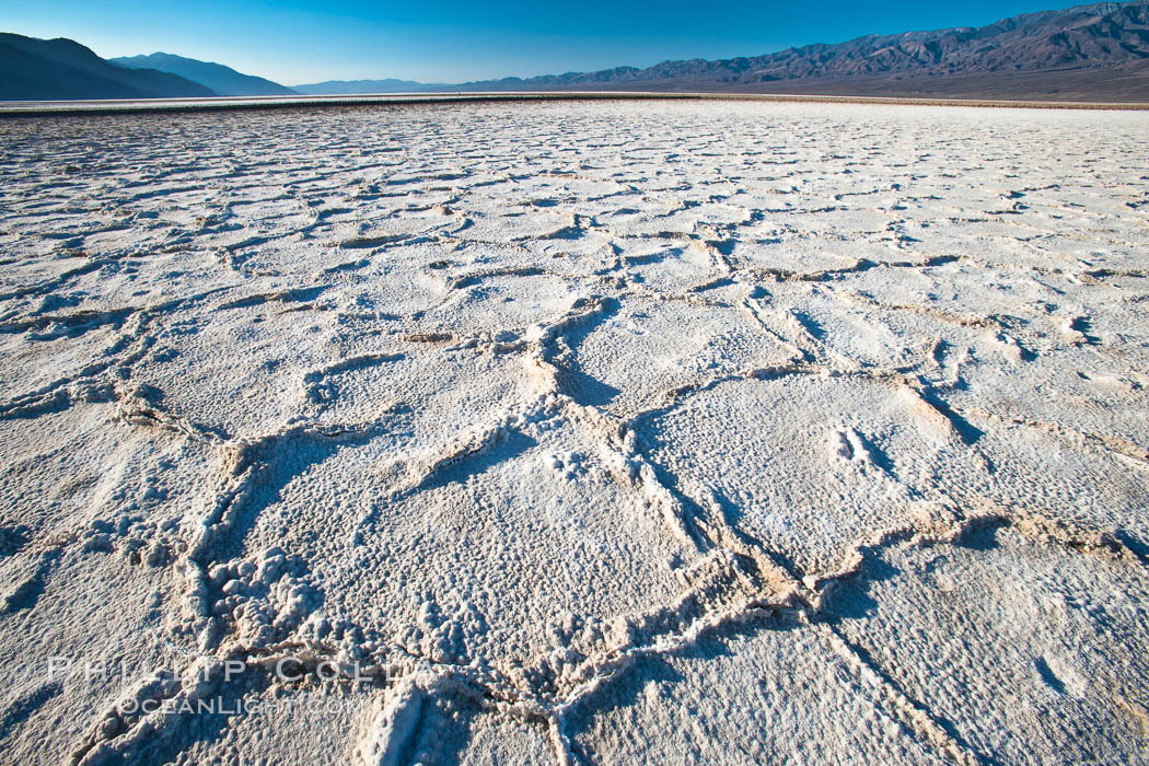 Devils Golf Course, California.  Evaporated salt has formed into gnarled, complex crystalline shapes in on the salt pan of Death Valley National Park, one of the largest salt pans in the world.  The shapes are constantly evolving as occasional floods submerge the salt concretions before receding and depositing more salt. USA, natural history stock photograph, photo id 15615