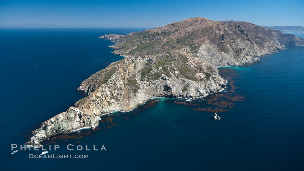 Aerial photo of the West End of Catalina Island. Catalina Island, California, USA, natural history stock photograph, photo id 25978
