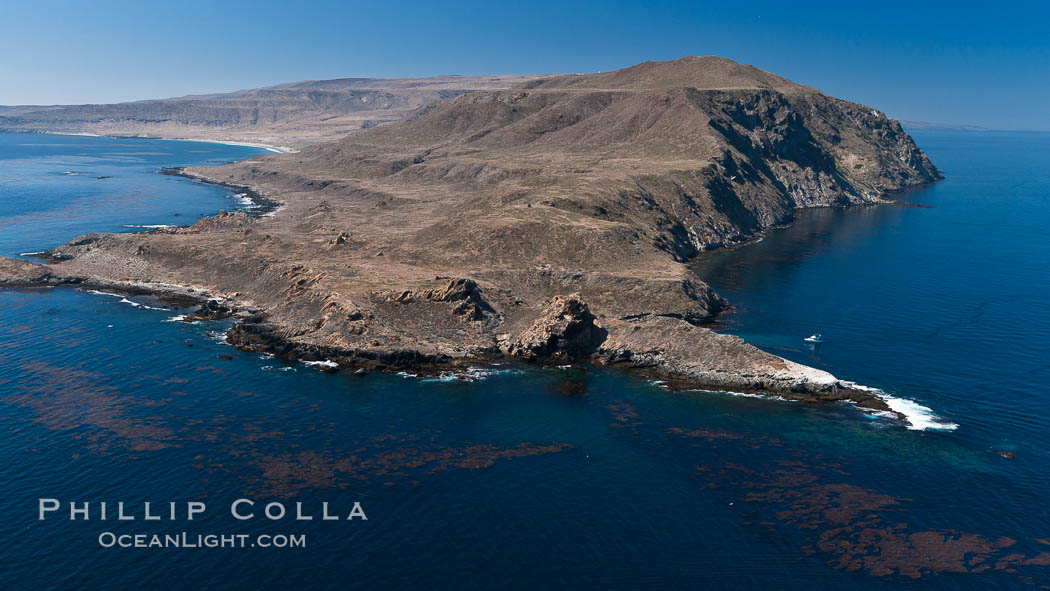 San Clemente Island Pyramid Head, the distinctive pyramid shaped southern end of the island. San Clemente Island, California, USA, natural history stock photograph, photo id 26007