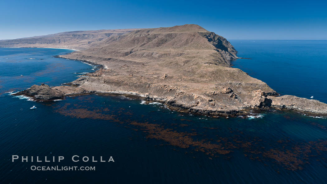 San Clemente Island Pyramid Head, the distinctive pyramid shaped southern end of the island. San Clemente Island, California, USA, natural history stock photograph, photo id 26009