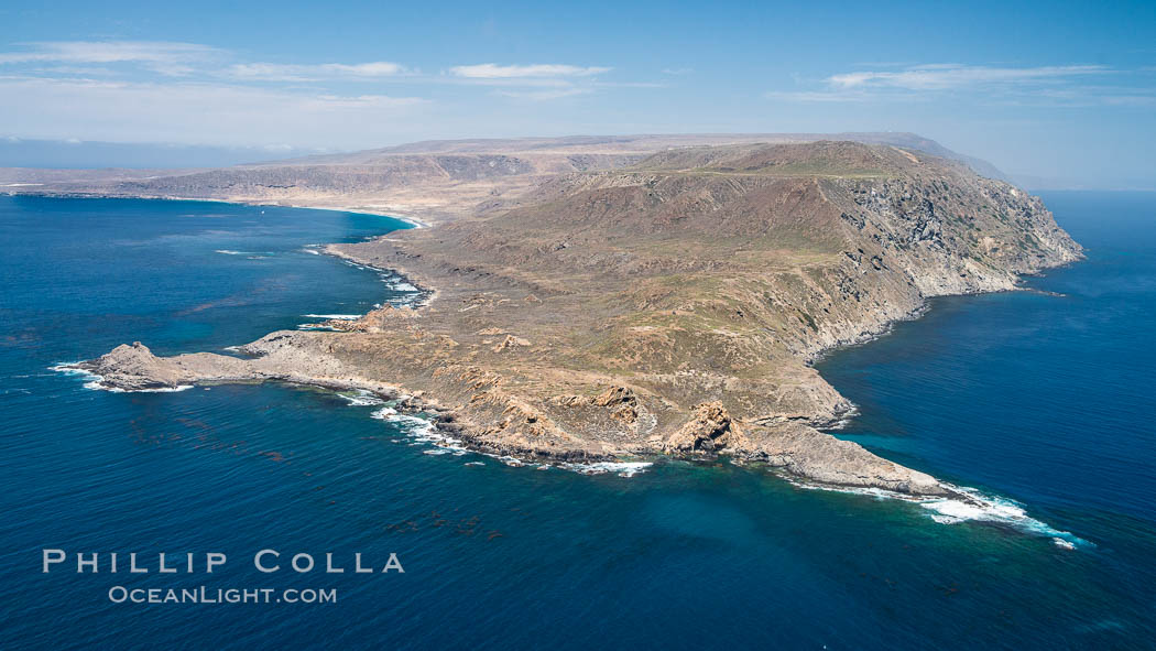 San Clemente Island Pyramid Head, the distinctive pyramid shaped southern end of the island. San Clemente Island, California, USA, natural history stock photograph, photo id 29354