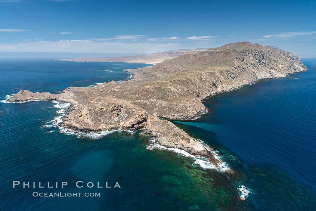 San Clemente Island Pyramid Head, the distinctive pyramid shaped southern end of the island. San Clemente Island, California, USA, natural history stock photograph, photo id 29358