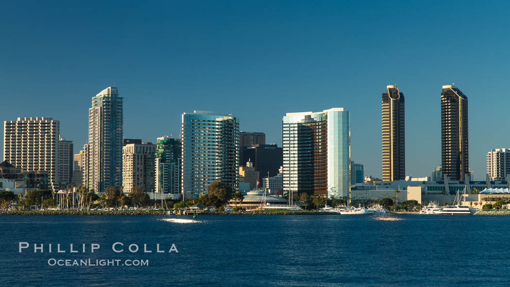 San Diego bay and skyline, viewed from Coronado Island. California, USA, natural history stock photograph, photo id 27888