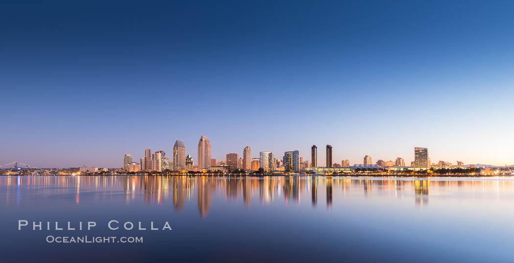San Diego City Skyline at Sunrise. San Diego, California, USA, natural history stock photograph, photo id 28382
