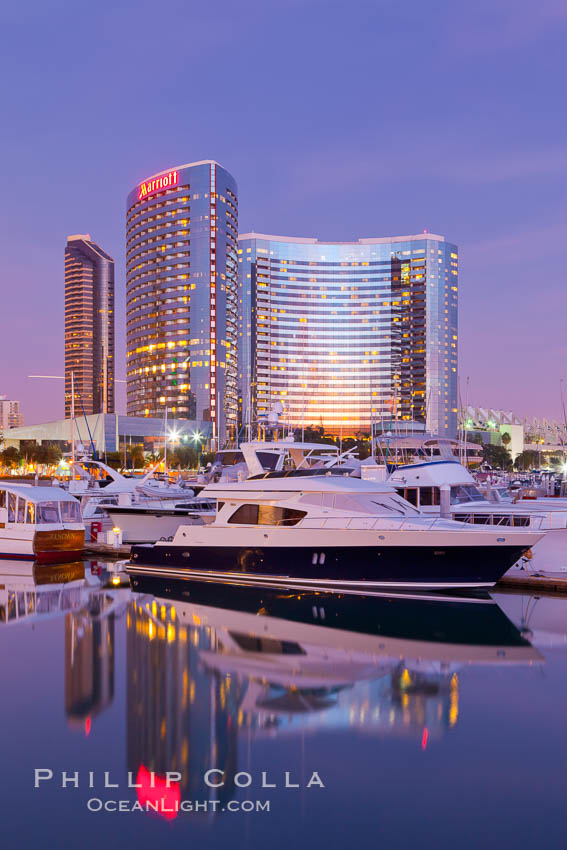 San Diego Marriott Hotel and Marina viewed from the San Diego Embacadero Marine Park. San Diego, California, USA, natural history stock photograph, photo id 26559