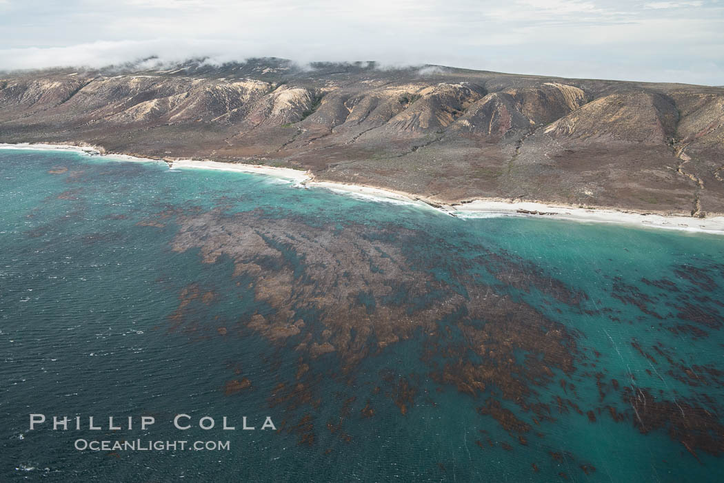 San Miguel Island, aerial photograph. California, USA, natural history stock photograph, photo id 29376