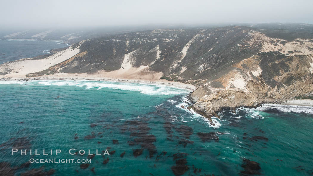 San Miguel Island, aerial photograph. San Miguel Island, California, USA, natural history stock photograph, photo id 29380