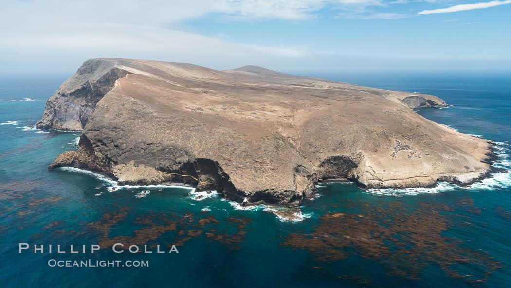 Santa Barbara Island, aerial photograph. Santa Barbara Island, California, USA, natural history stock photograph, photo id 29368