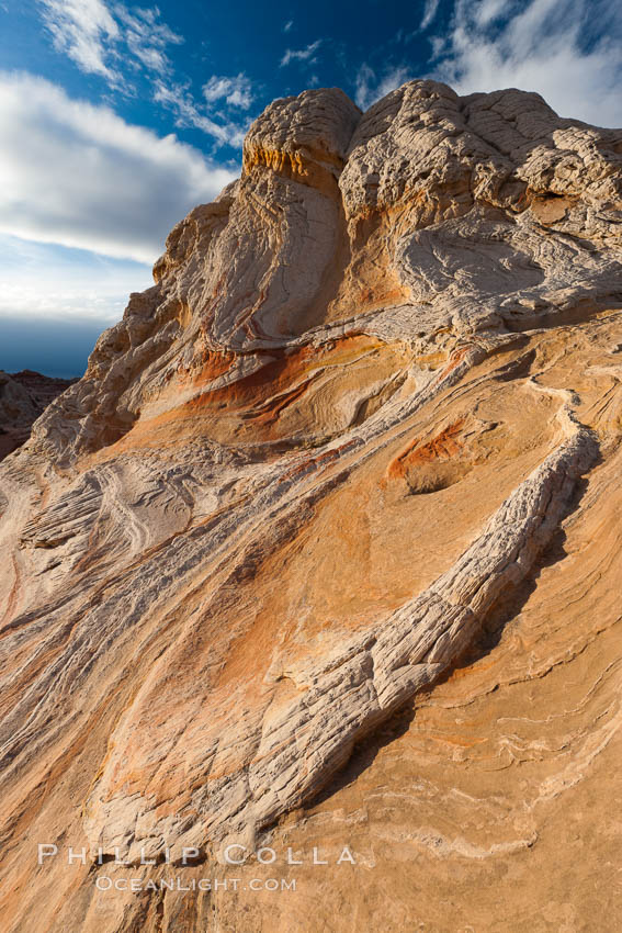 Sarah's Swirl, a particularly beautiful formation at White Pocket in the Vermillion Cliffs National Monument. Arizona, USA, natural history stock photograph, photo id 26621
