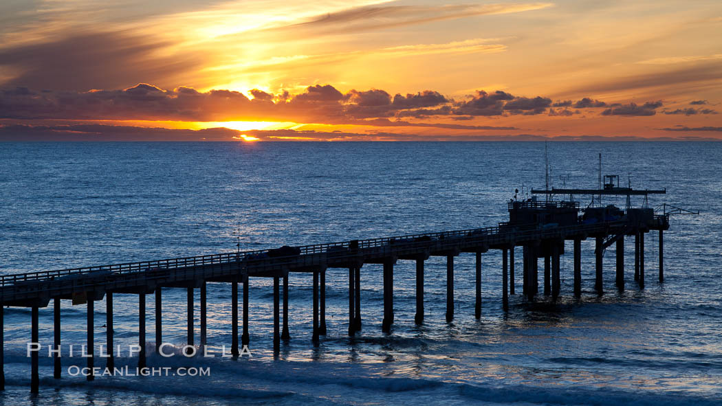 Scripps Institute of Oceanography Pier. La Jolla, California, USA, natural history stock photograph, photo id 26600