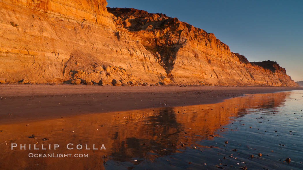 Torrey Pines bluffs, sea cliffs that rise above the Pacific Ocean, extending south towards Black's Beach and La Jolla. Torrey Pines State Reserve, San Diego, California, USA, natural history stock photograph, photo id 26788