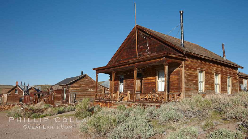 Seiler House, front porch, Park Street. Bodie State Historical Park, California, USA, natural history stock photograph, photo id 23145