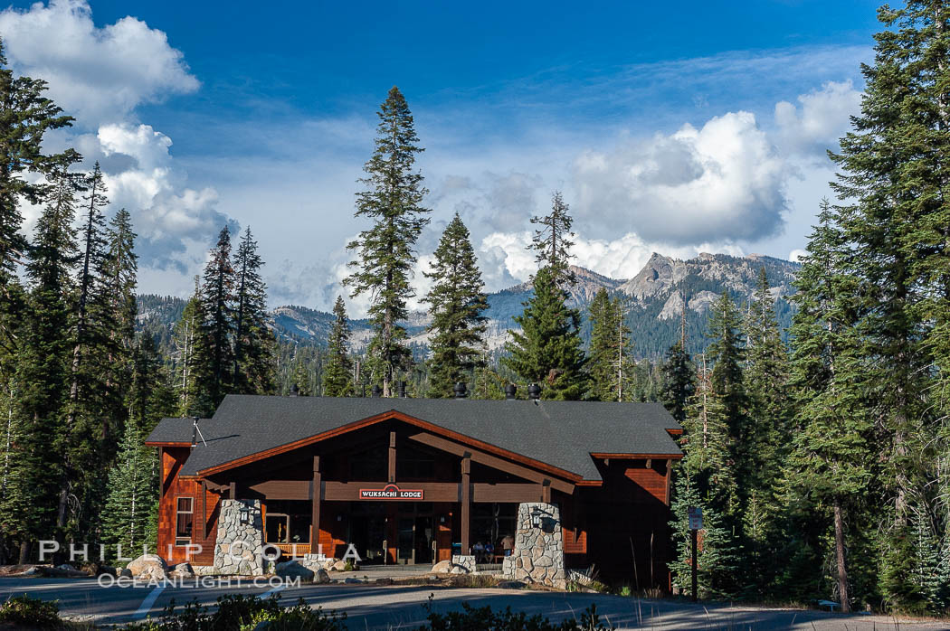 Wuksachi Lodge, Sequoia National Park. Sequoia Kings Canyon National Park, California, USA, natural history stock photograph, photo id 09900