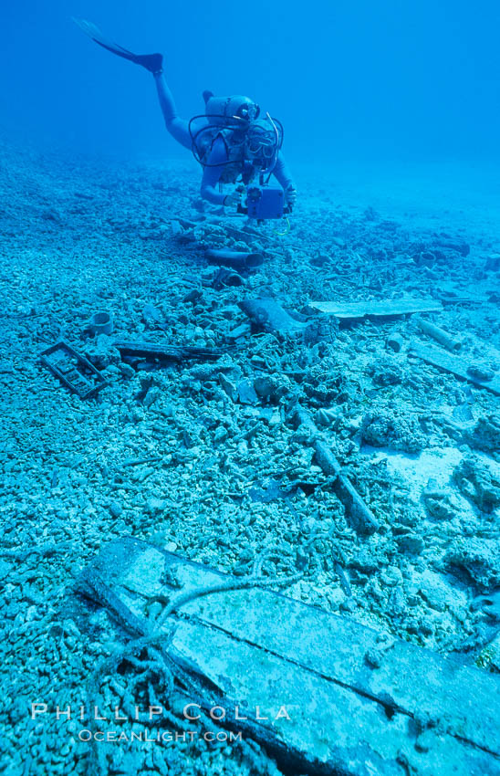 Debris from wreck of F/V Jin Shiang Fa. Rose Atoll National Wildlife Sanctuary, American Samoa, USA, natural history stock photograph, photo id 00794
