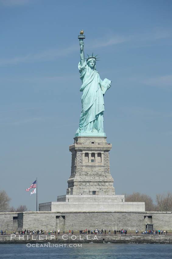 Image 11086, The Statue of Liberty, New York Harbor. Statue of Liberty National Monument, New York City, New York, USA