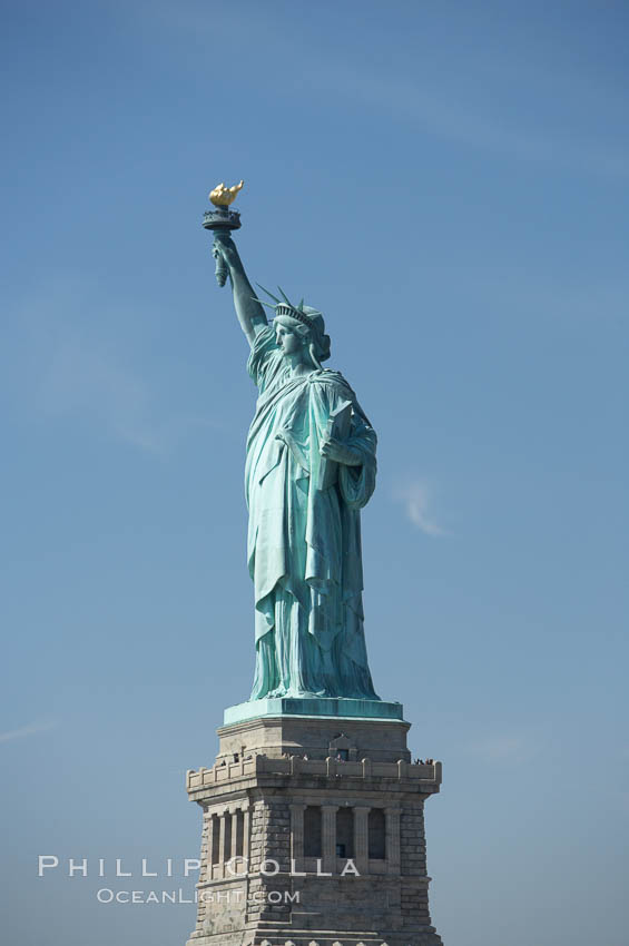 The Statue of Liberty, New York Harbor. Statue of Liberty National Monument, New York City, New York, USA, natural history stock photograph, photo id 11080