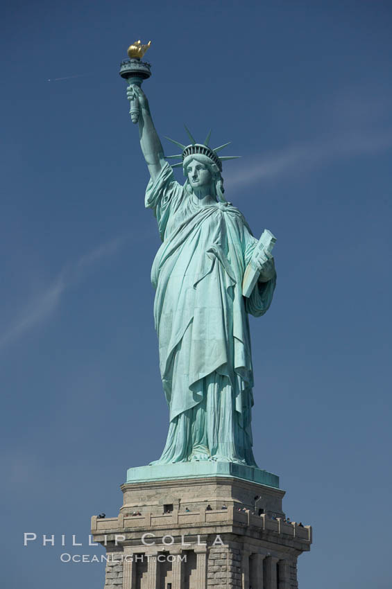 The Statue of Liberty, New York Harbor. Statue of Liberty National Monument, New York City, New York, USA, natural history stock photograph, photo id 11083